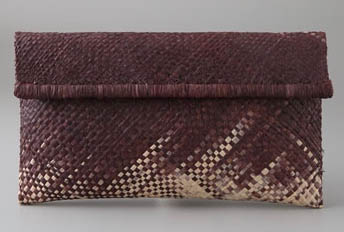 Mad Imports Ariel Ombre Woven Clutch