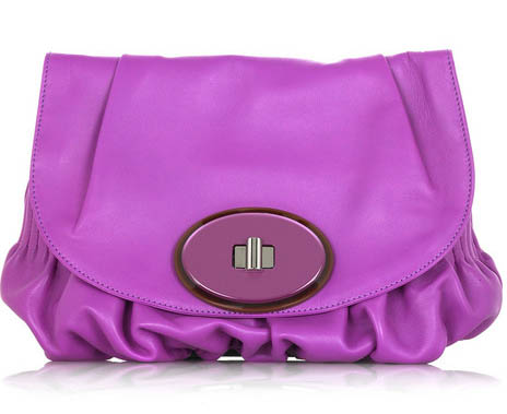 Marni Leather Fold-Over Clutch