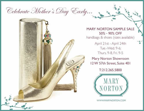 Mary Norton Sample Sale