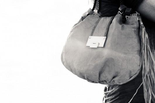 Jimmy Choo Robin Biker Leather and Elaphe Snake Bag. $1,395