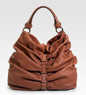 Salvatore Ferragamo Gathered Shoulder Bag