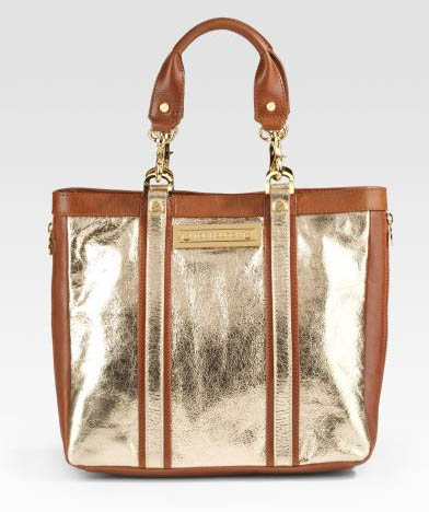 Tory Burch Metallic Leather Tote