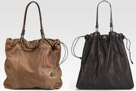 Burberry Drawstring Leather Tote