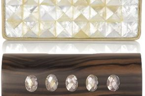 Celestina Pina Oakwood and Ebony Macassar Clutch