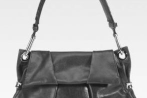 Costume National Foldover Shoulder Bag