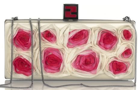 Fendi Floral Box Clutch