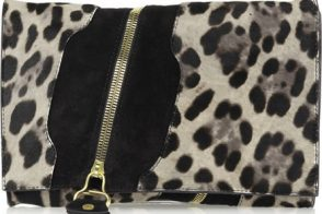 Jimmy Choo Martha Pony and Suede Clutch