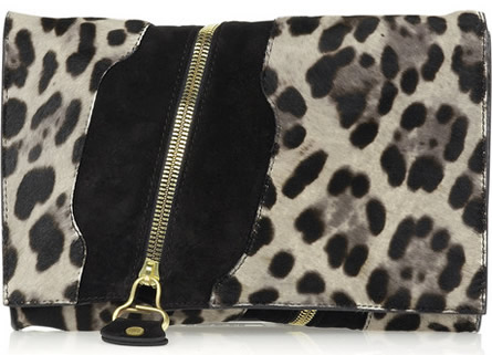 Jimmy Choo Pony and Suede Clutch
