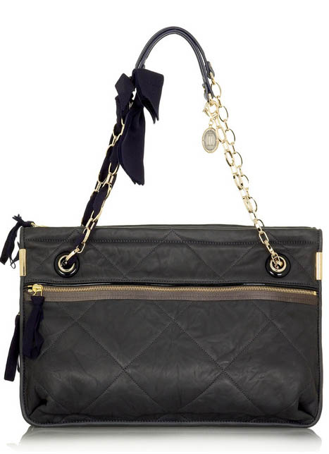 Lanvin Amalia Large Leather Shoulder Bag | Parisian Chic ...