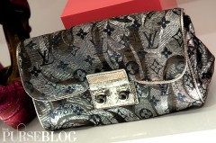 Louis Vuitton Silver Biseta Clutch ~$2095