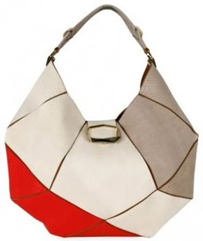 Roger Vivier Faceted Python Hobo