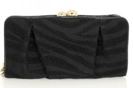 Stella McCartney Zebra-Print Wool Clutch
