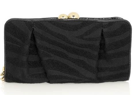 Stella McCartney Zebra-Print Wool Clutch