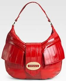 Versace Leather Flap Hobo