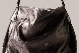 Burberry Metallic Leather Hobo