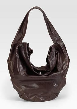 Costume National Ruched Hobo