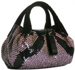 Fendi Violet Sequined Spy Tote
