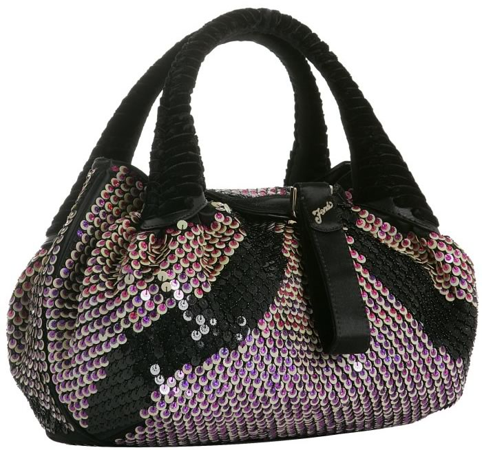 205ae6fbdb1d Fendi Violet Sequined Satin Small Spy Tote