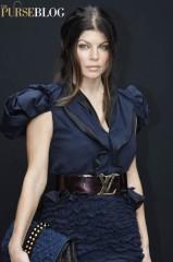 Fergie Louis Vuitton Satin Plisse Matelasse