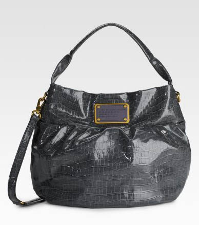Marc by Marc Jacobs Croc-Printed Riz Hobo