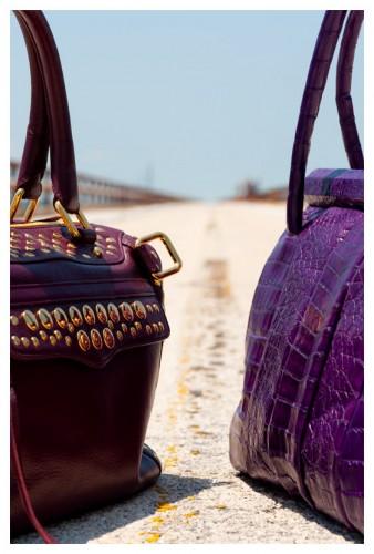 Rebecca Minkoff Studded MAM Bag - $675   Nancy Gonzalez Green Croc Tote - $3300