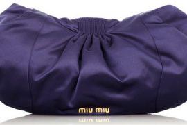 Miu Miu Oversized Satin Clutch