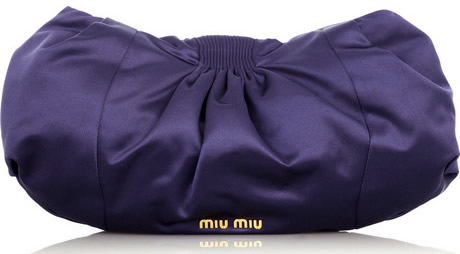 Miu Miu Oversized Satin Clutch