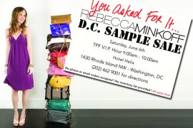 Rebecca Minkoff Sample Sale in DC