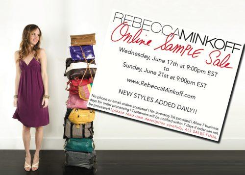 Rebecca Minkoff Online Sample Sale