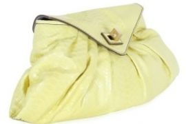 Zagliani Shiny Python Flap Shoulder Bag