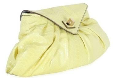 Zagliani Medium Python Shoulder Bag