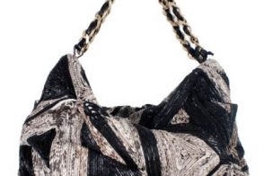 Zagliani Woven Python Art Shoulder bag