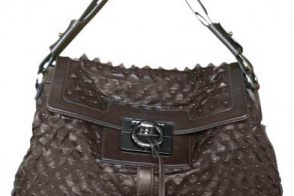 Salvatore Ferragamo Studded Jazz Satchel