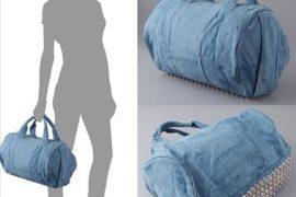 Alexander Wang Coco Duffel in Denim Leather