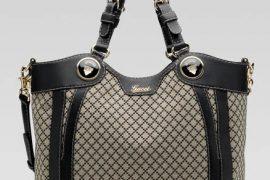 Gucci Crest Boule Fabric Tote