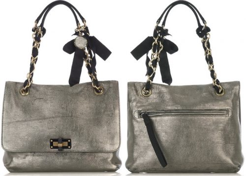 Lanvin Happy Partage Metallic Lame Bag