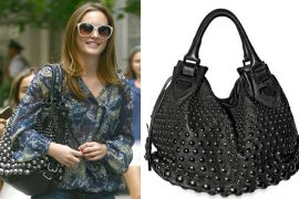 Leighton Meester: Bally Studded Top Handle