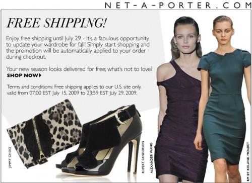 Net A Porter Free Shipping