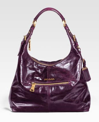 Prada Vitello Shine Hobo