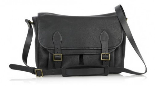 APC Black Leather Satchel