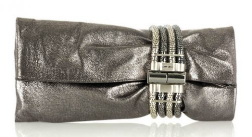 Jimmy Choo Chandra Metallic Clutch