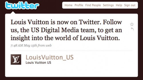 LV First Tweet