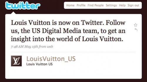 LV First Tweet