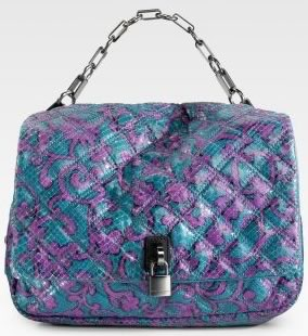 Marc Jacobs Iggy Python Shoulder Bag
