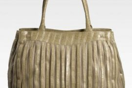 Nancy Gonzalez Crocodile Striped Tote