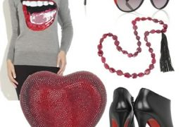 Vibrant Black and Red Accessories