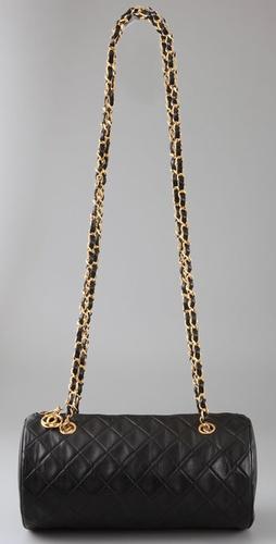 Vintage Chanel Double Chain Tube Bag