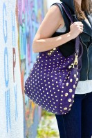 BE & D Garbo Tote in purple leather - $1490