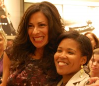 Stacy London with a fan