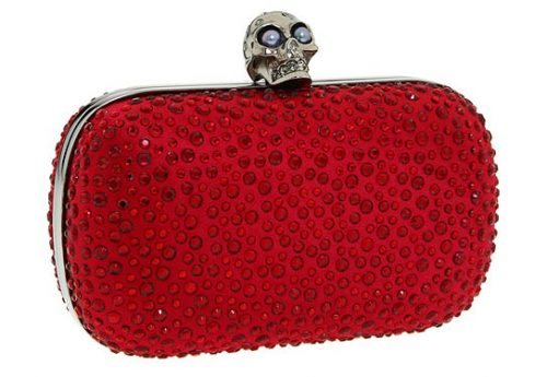 Alexander McQueen Red Skull Box Clutch